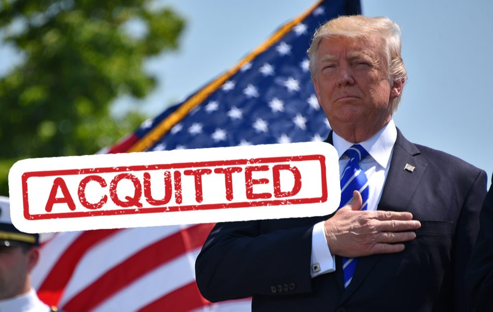 'Not Guilty': Trump Acquitted on 2 Articles of Impeachment