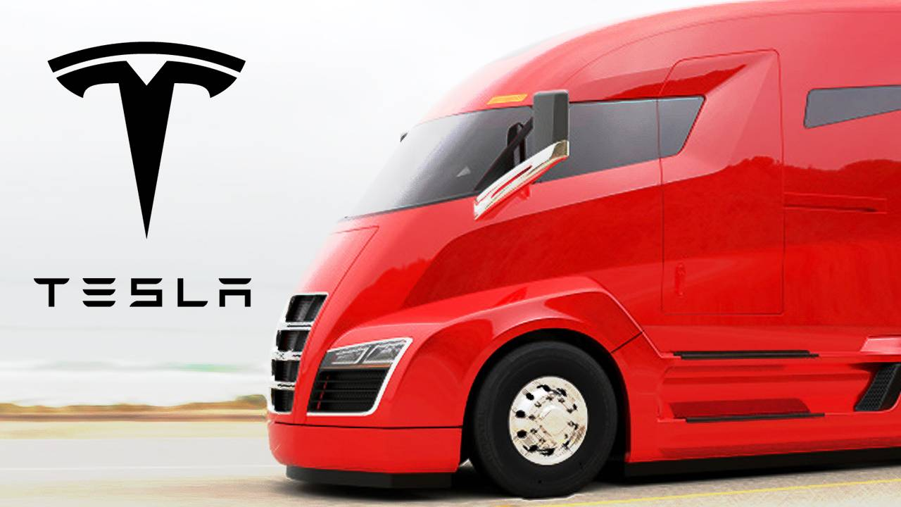 Tesla Electric Semi-Truck Could Debut for Less than $100k