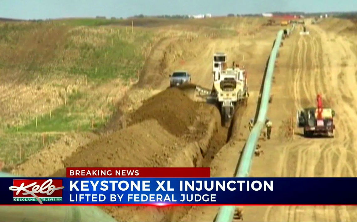 Court lifts block on $8B Keystone XL pipeline construction